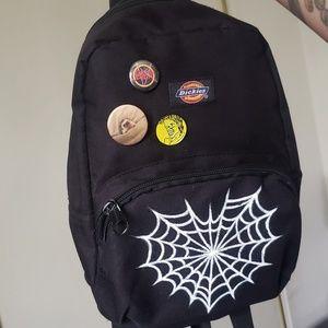 Handbags - Mini dickies backpack painted heart spiderweb DIY